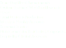 Same-Day Floral Arrangements Custom Designed Wedding Flowers & Decor Event Design & Production Weekly & Monthly Accounts Seasonal Service Maintenance for Residential, Corporate, Hospitality & Retail Accounts